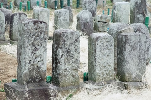 写真:墓石